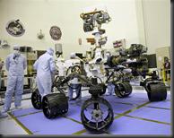 Engineers working on Mars Curiosity Rover