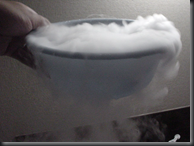 Dry ice in water produces this fog