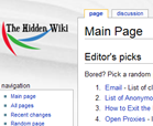 The Hidden Wiki home page