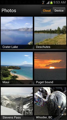 Amazon Cloud Drive Photos Android app screenshot