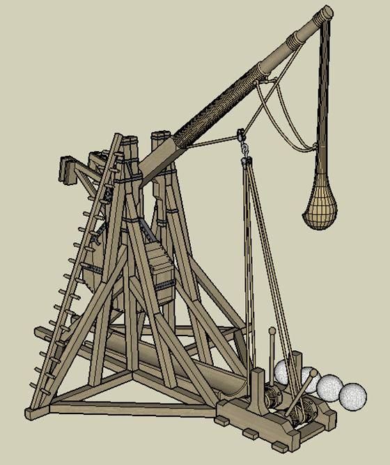 Tebuchet (Catapult) - from behind