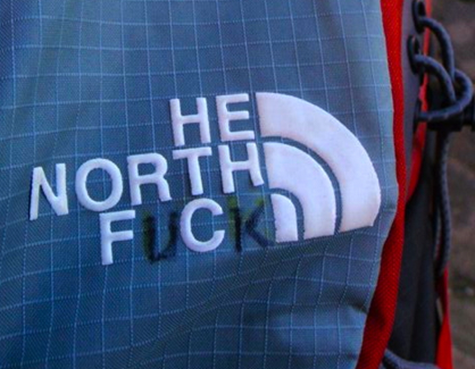 Modified North Face bag - He North Fuck