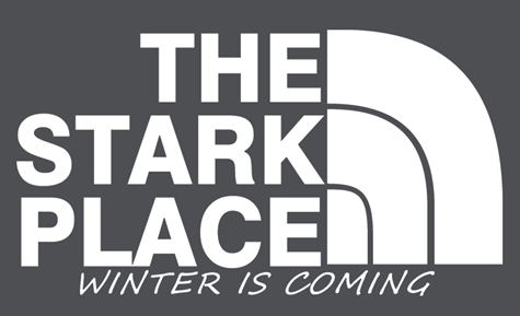 The Stark Place - North Face parody logo