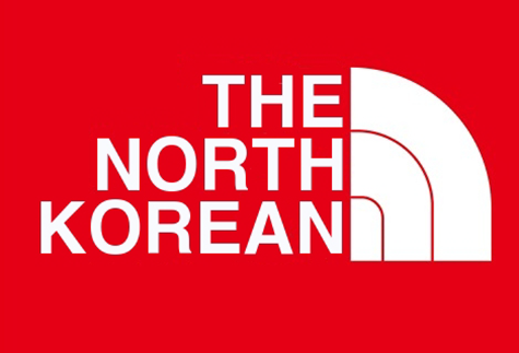 The North Korean - North Face parody logo