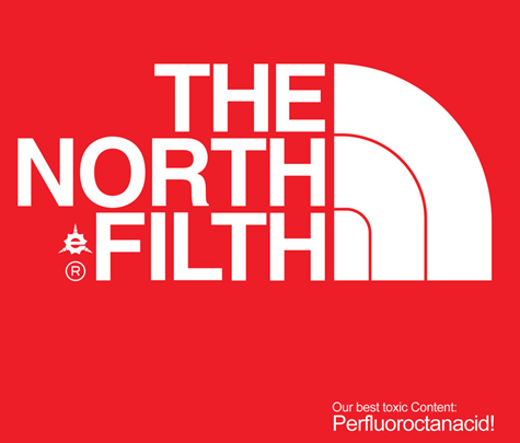 The North Filth - North Face parody logo