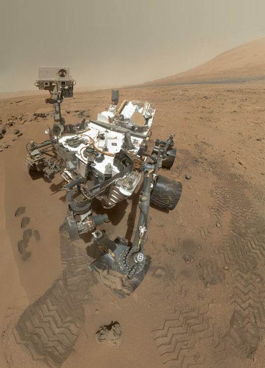 Mars Curiosity Rover self portrait picture from Gale Crater