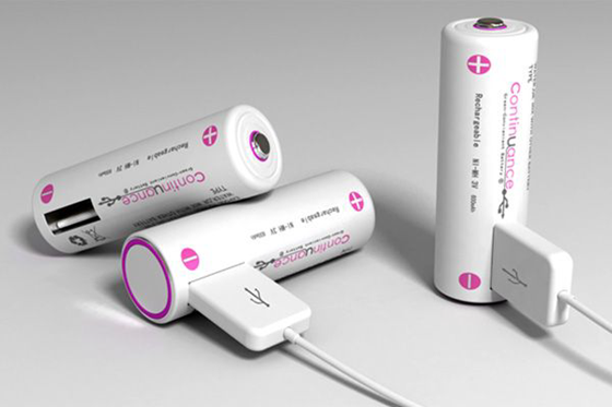 Rechargeable AA battery with built-in USB port