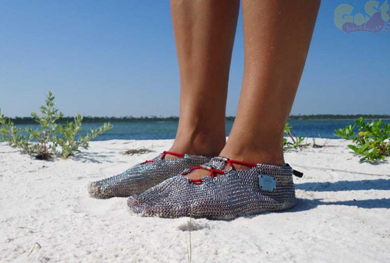PaleoBarefoots Delinda chainmail shoes