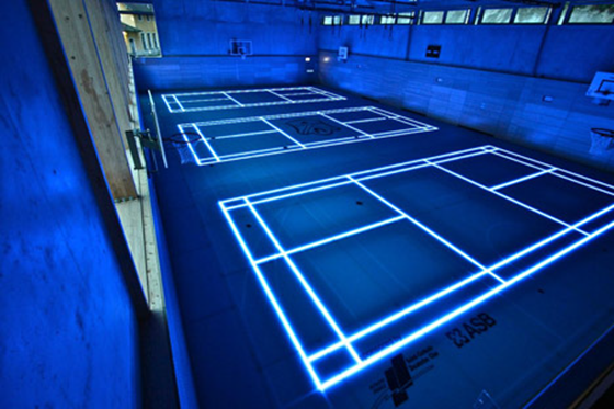 New lighted flooring for sports courts