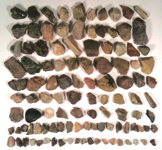 Other stones found near the Tunguska explosion site