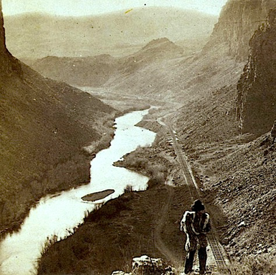 Indian looks at 1868 transcontinental railroad
