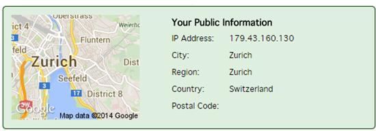 Checking your public IP address through VPN