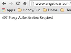 Simulated HTTP error