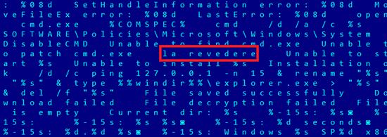 Screenshot showing Romanian language used in code