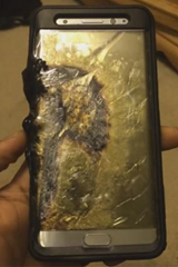 Samsung Note 7 with exploded battery