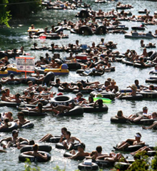 Floating on the Guadalupe River near San Marcos