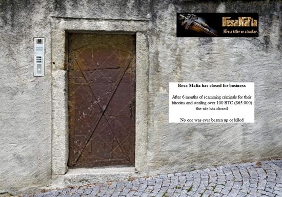 Besa Mafia dark web hitman site closes its doors