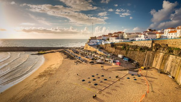 the popular beach town ericeira in the afternoon sun portugal
