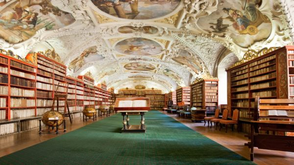 theological hall of strahov monastery library prague czech republic