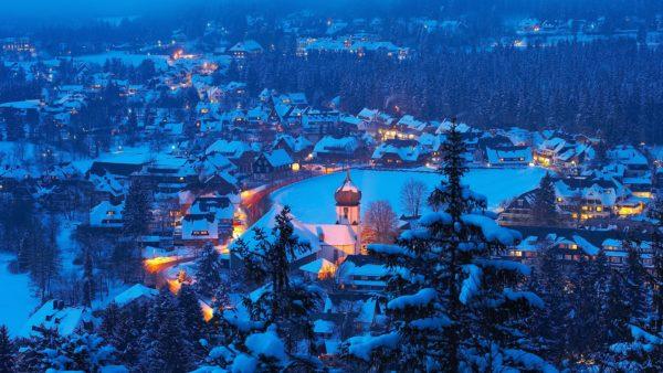 winter in hinterzarten black forest schwarzwald baden württemberg germany
