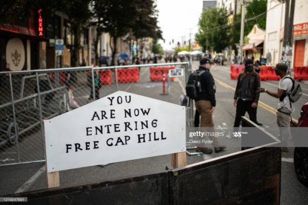 original photo of capitol hill autonomous zone chaz in seattle