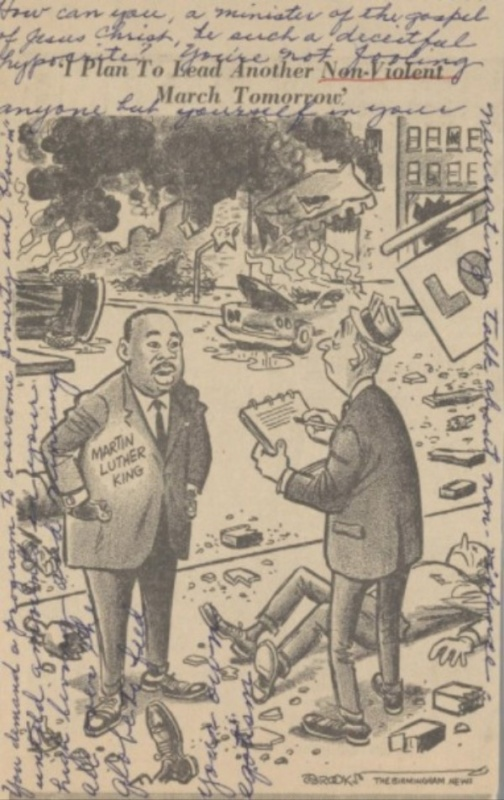 martin luther king jr. i plan to lead another non violent march tomorrow cartoon