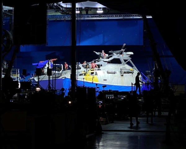 Avatar 2: The last set for 2020 filming The Matador 50' forward command boat